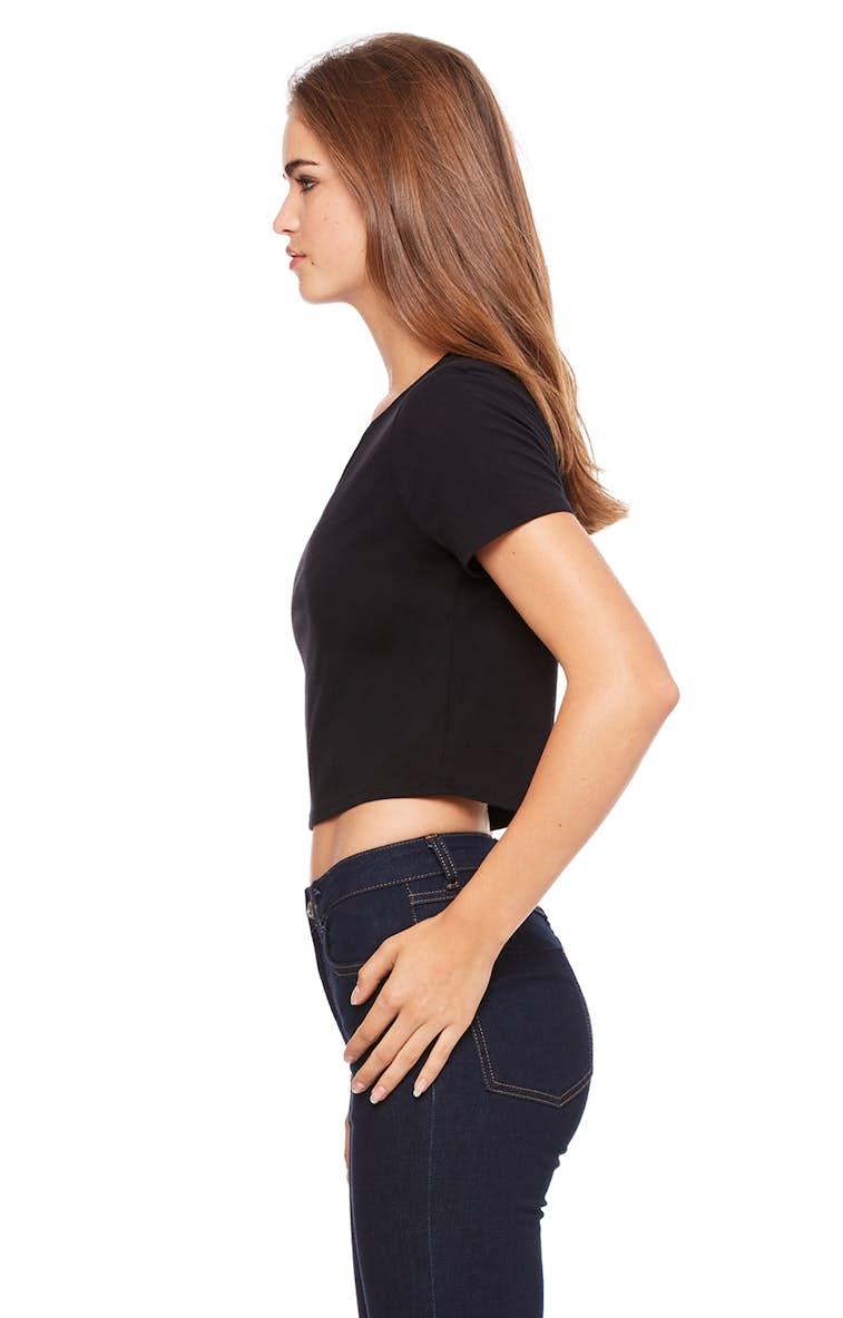 91f4f9e4e7c220 Bella+Canvas 6681 Ladies  Poly-Cotton Crop T-Shirt - JiffyShirts.com