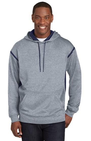 Sport-Tek TST246 Gray Heather / Tr Navy
