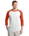 Sport-Tek T200J1 White / Deep Orange
