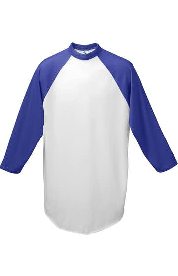 Augusta Sportswear 4421 White/ Purple
