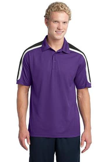 Sport-Tek ST658 Purple / Black / White