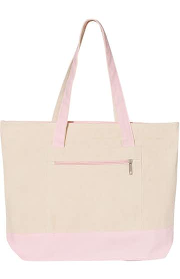 Q-Tees Q1300 Natural / Light Pink