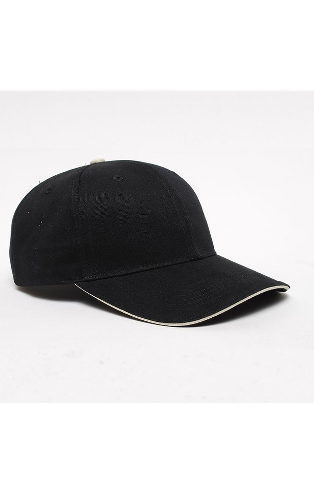 Pacific Headwear 0121PH Black/Khaki
