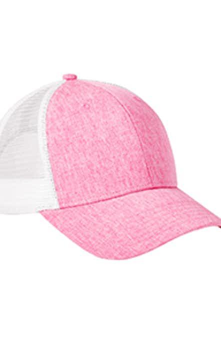 Big Accessories BA540 Hthr Pink/ Wht