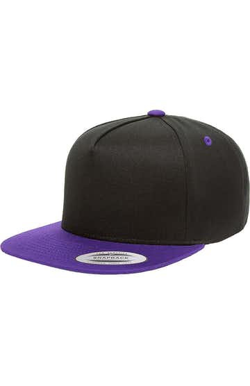 Yupoong Y6007 Black/ Purple