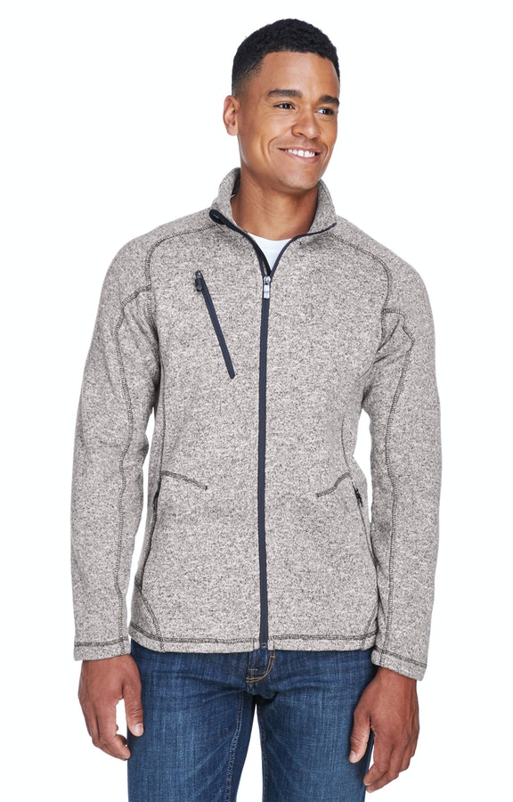 c24a710d4 Ash City - North End 88669 Light Heather Men's Peak Sweater Fleece Jacket