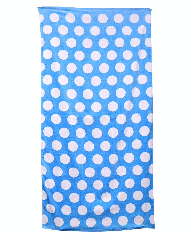 Carmel Towel Company C3060 Lt Blu Polka Dot