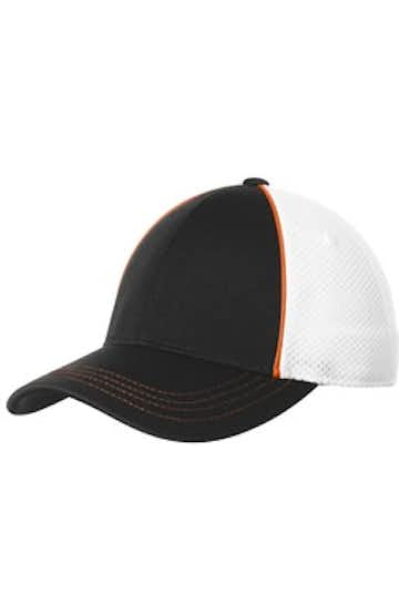 Sport-Tek STC29 Deep Orange / Black / White
