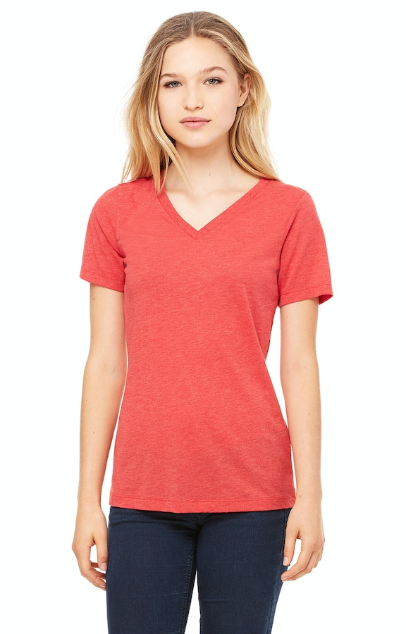 b7d5eaa25253 Bella+Canvas 6405 Ladies' Relaxed Jersey Short-Sleeve V-Neck T-Shirt ...