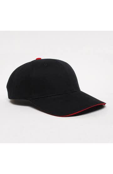 Pacific Headwear 0121PH Black/Red
