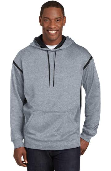 Sport-Tek F246 Gray Heather / Black