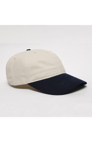 Pacific Headwear 0201PH Khaki/Navy