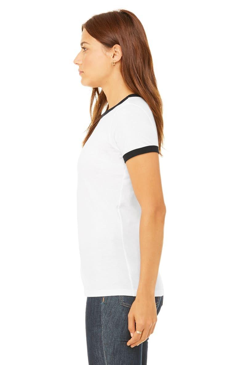 20798c91 Bella+Canvas B6050 Ladies' Jersey Short-Sleeve Ringer T-Shirt ...