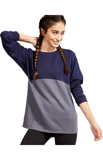 Soffe S5353VP Navy / Gray Heather