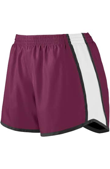Augusta Sportswear 1266 Maroon / White / Black
