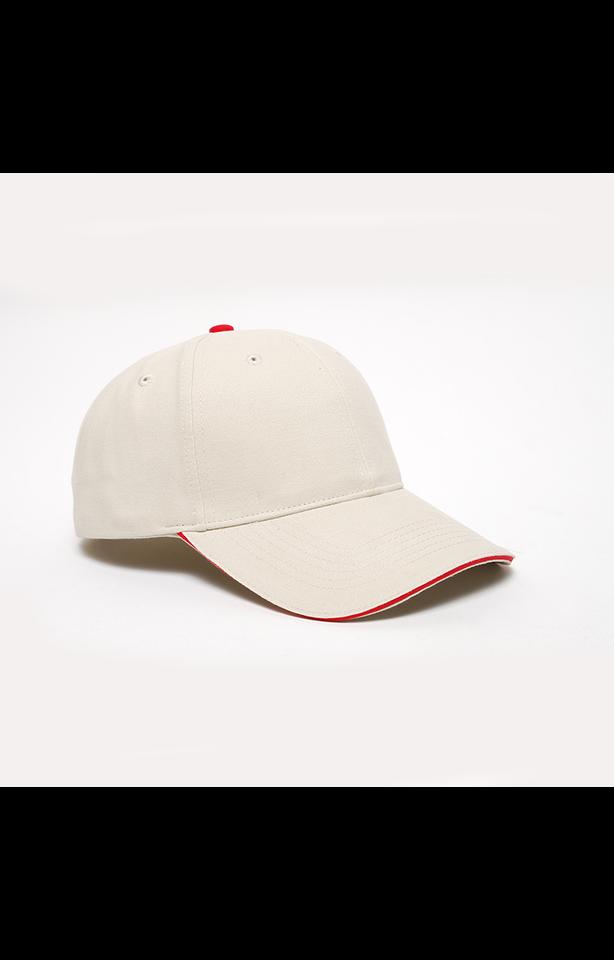Pacific Headwear 0121PH Khaki/Red
