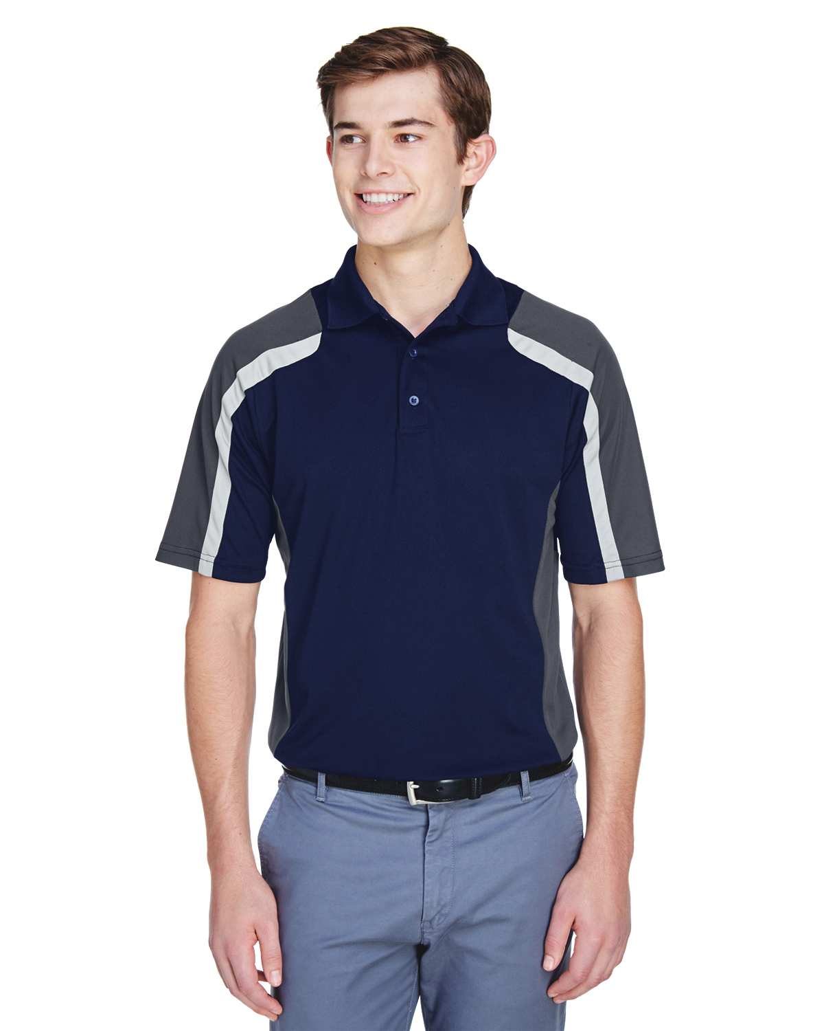 Extreme Mens Eperformance Strike Colorblock Snag Protection Polo 85119