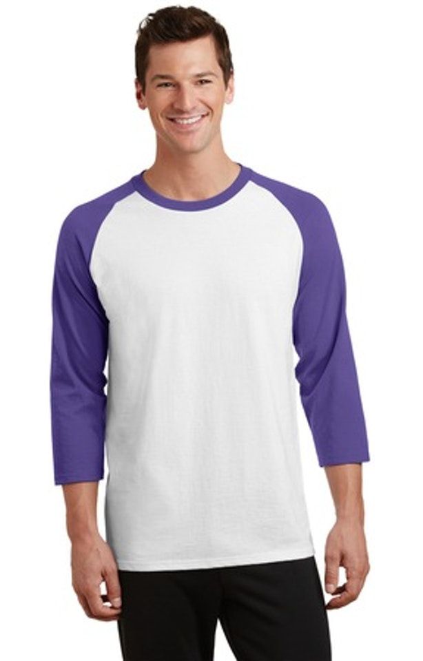 Port & Company PC55RS White / Purple
