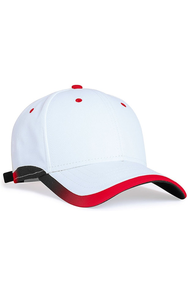 Pacific Headwear 0416PH White/Red