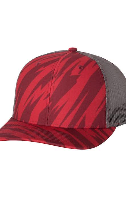 Richardson 112P Streak Red/ Charcoal