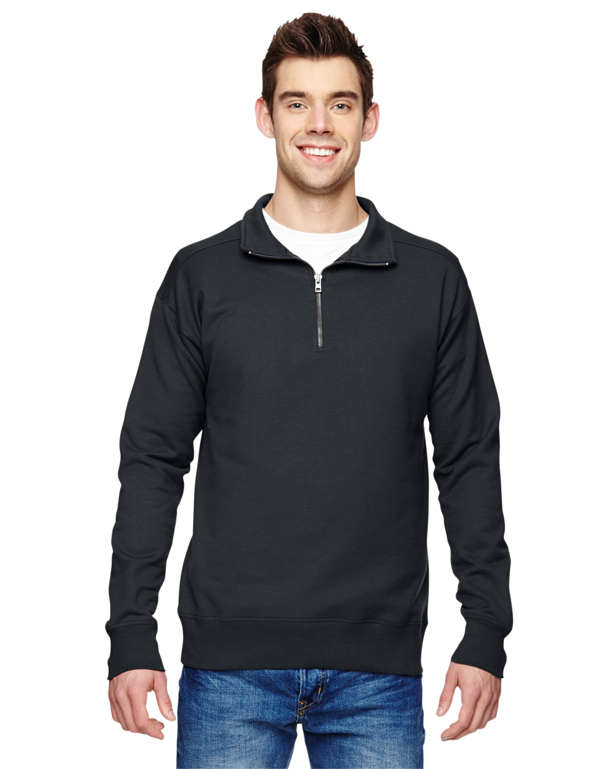Champion Men/'s Performance 1//4-Zip Polyester Long Sleeve Solid Jacket S230
