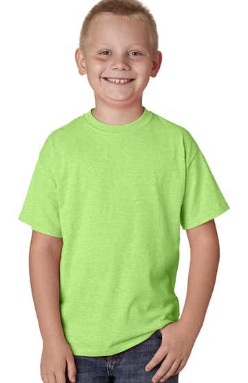 Hanes H420Y Neon Lime Hthr