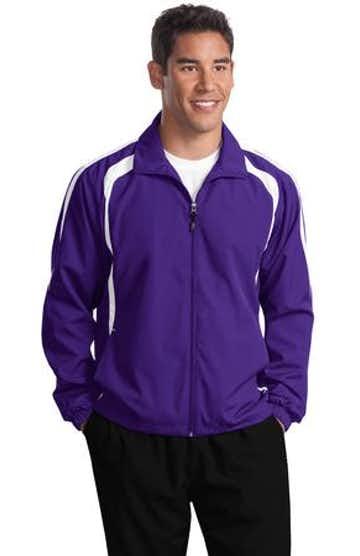 Sport-Tek TJST60 Purple / White
