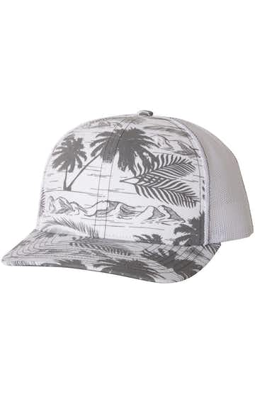 Richardson 112P Island Print Charcoal/ White