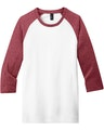 District DT6210 Heather Red / White