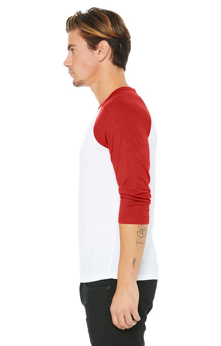 4b2ce1adc Bella+Canvas 3200 Unisex 3/4-Sleeve Baseball T-Shirt - JiffyShirts.com