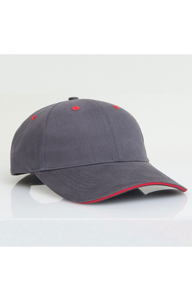 Pacific Headwear 0121PH Graphite/Red