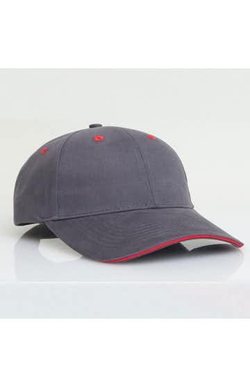 Pacific Headwear 0121PH Graphite/Red