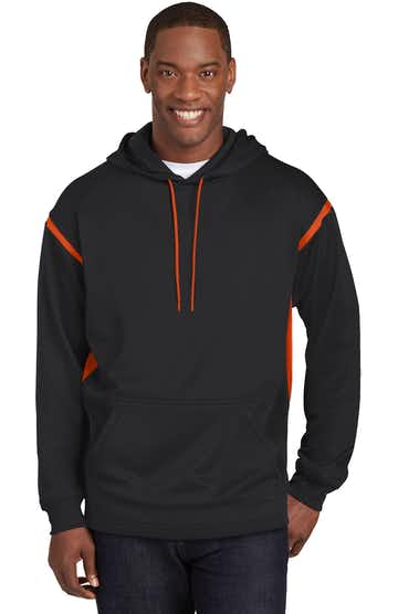 Sport-Tek TST246 Black / Deep Orange