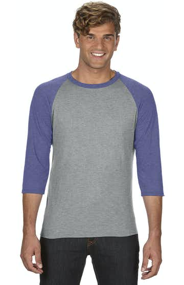 Anvil 6755 Heather Grey/Heather Blue