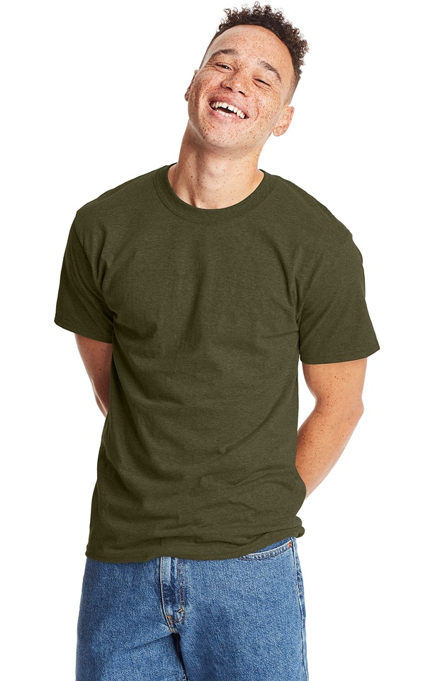 Hanes 5180 MILITARY GRN HTH
