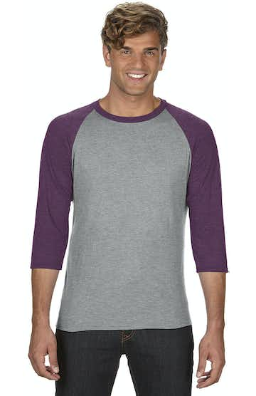 Anvil 6755 Heather Grey/Heather Aubergine