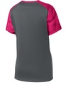 Sport-Tek LST371 Iron Gray / Pink Ra