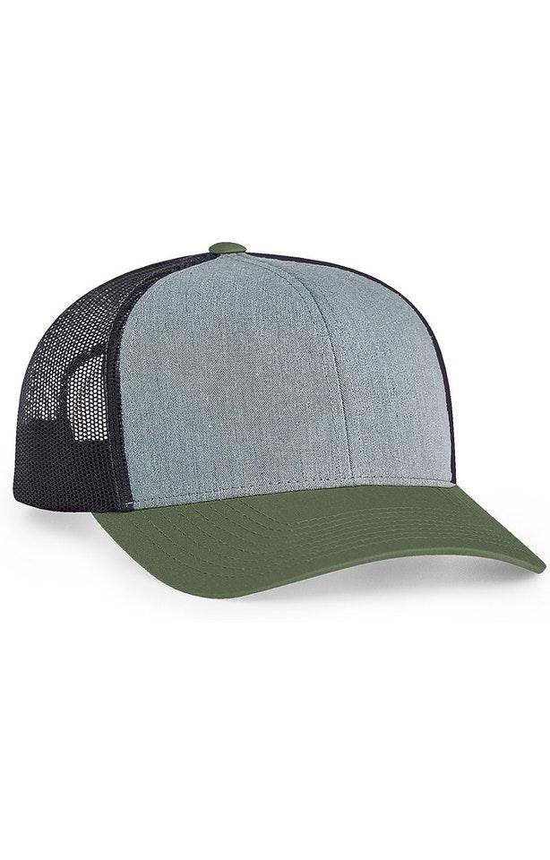 Pacific Headwear 0104PH Heathergrey/Ltcharcoal/Mossgre