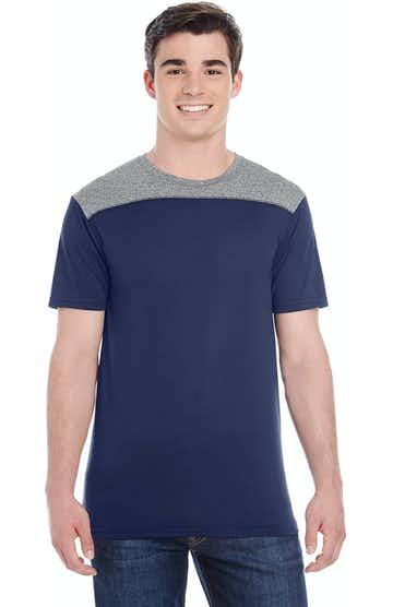 Augusta Sportswear 3055 Navy/ Graph Hthr