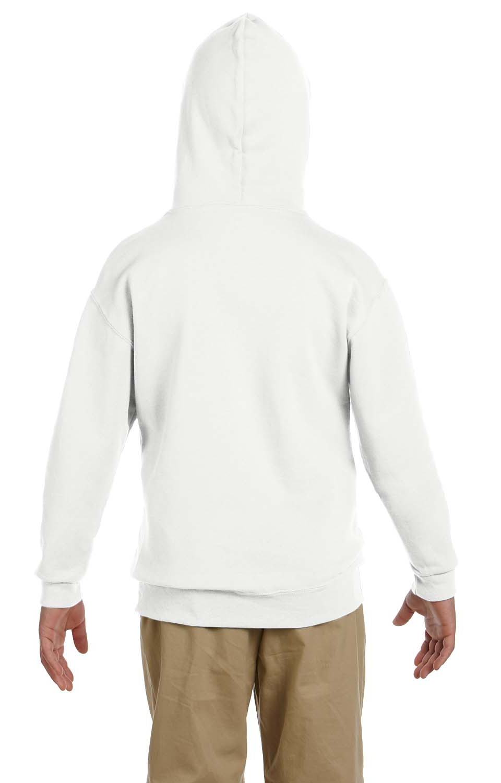 Jerzees Youth 8 oz. 996Y 50//50 NuBlend Fleece Pullover Hood CYBER PINK