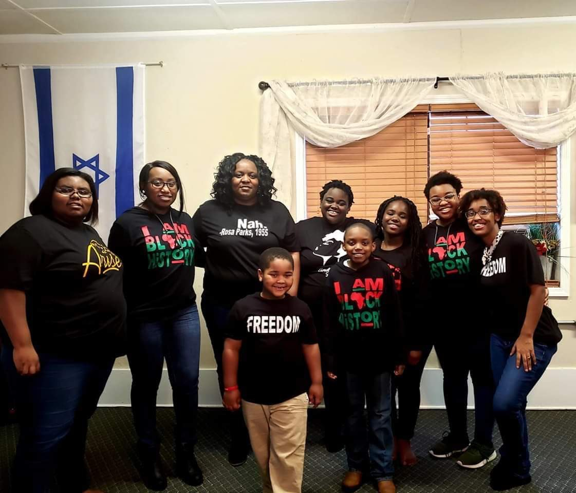 Anvil 987AN customer review by Andrea Campbell Black history shirt